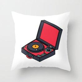 Retro Turntable Throw Pillow