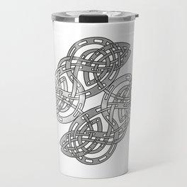 Abstract Modern Celtic Design Travel Mug
