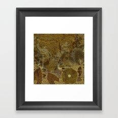 Art nouveau background I Framed Art Print