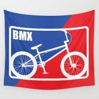 nba Wall Tapestries featuring BMX by Wyatt Design