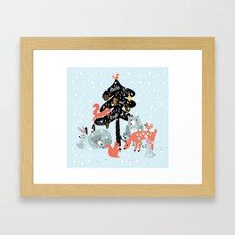 Christmas fairytale Framed Art Print