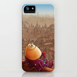 """""""Humpty Dumpty"""" Page Sample (Mother Goose Retold-Trumble Book) iPhone Case"""