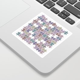 Shades of Gray puzzle Sticker