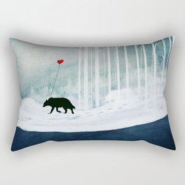 WOLF - A Love Always Carried  Rectangular Pillow