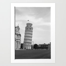 Scanned negative of the Leaning tower of Pisa Art Print