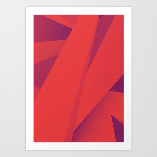 Striking Red Art Print