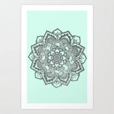 sea foam mandala Art Print