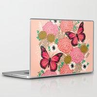 vegetarian Laptop & iPad Skins featuring Monarch Florals by Andrea Lauren  by Andrea Lauren Design