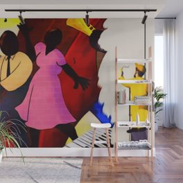 African American Masterpiece 'The Whitewash of Gentrification' Wall Mural