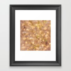 Pick Me Framed Art Print