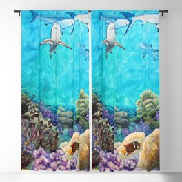 Shiver - Sharks in the Reef Blackout Curtain