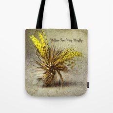 Yellow Fan Wing Mayfly Tote Bag