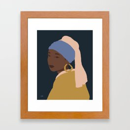 The Girl With A Bamboo Earring Framed Art Print