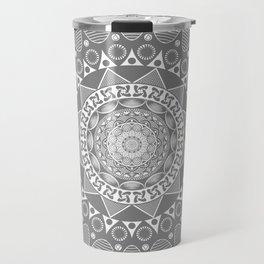 Mystical Grey Mandala Travel Mug