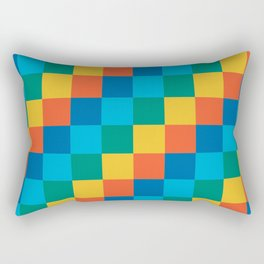 Color me happy - Pixelated Pattern in bright colors Rectangular Pillow
