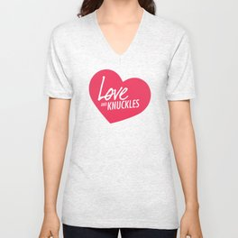 Love and Knuckles (Heart Graphic) Unisex V-Neck