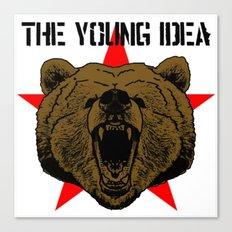 The Young Idea - Grizzly Logo Canvas Print