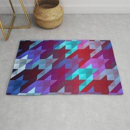 gradient origami houndstooth Rug