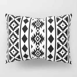 Aztec Essence Ptn III Black on White Pillow Sham