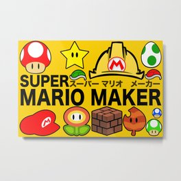 Super Mario Maker Metal Print