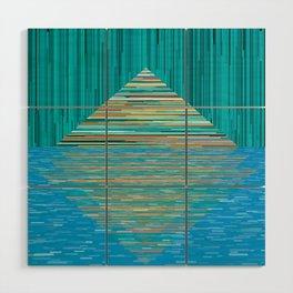 Mountain Lake Abstract Wood Wall Art