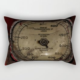 Red Revometer Rectangular Pillow