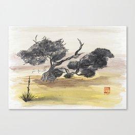 Coyote Ridge Tree Canvas Print