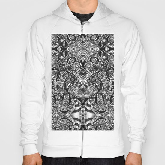 Drawing Floral Zentangle G6B Hoody