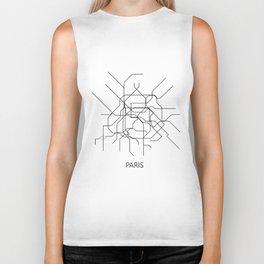 Paris map poster, map of paris poster, paris map, paris city map, paris print, map wall art Biker Tank