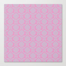 Template,pink,damask pattern,vintage,floral,elegant,chic,victorian pattern, art nouveau pattern, wal Canvas Print