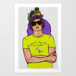 """Noklai Fruita, The Storks"" Nikolai Fraiture / The Strokes Colored Art Print"