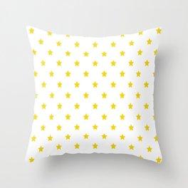 Yellow star pattern Throw Pillow
