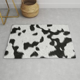 Black and white spots pattern Rug