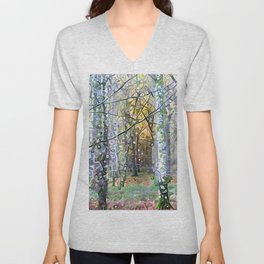 Whispering Woods Unisex V-Neck