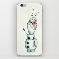 olaf iPhone & iPod Skins featuring Olaf (Frozen) by STATE OF GRACCE