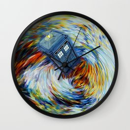 Tardis doctor who jump into time Vortex Wall Clock