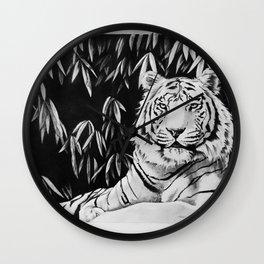 Endangered White Tiger Wall Clock