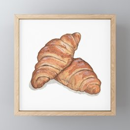 Breakfast & Brunch: Croissants Framed Mini Art Print