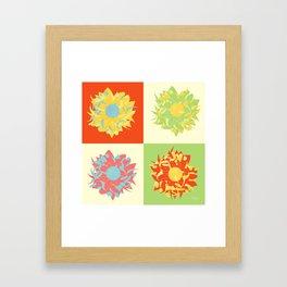 Abstract Chrysanthemums Framed Art Print
