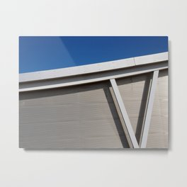 modern architecture - curve and sky Metal Print