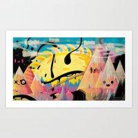 Crystal Plains Art Print