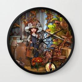 Behind the Barn Wall Clock