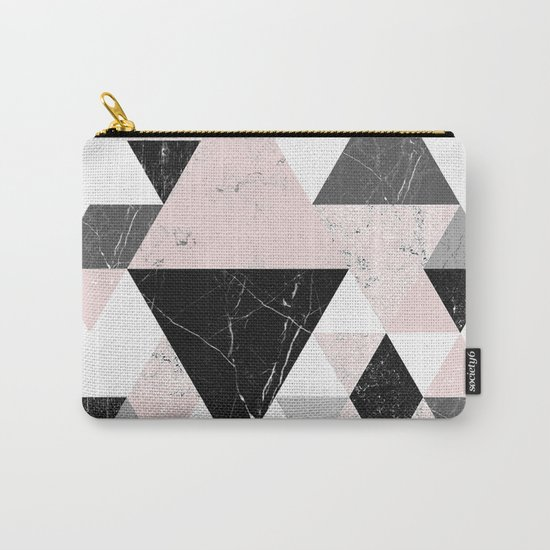 Triangle pattern modern geometric abstract ll Carry-All Pouch
