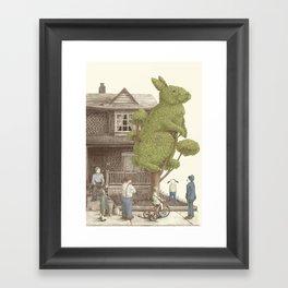 The Night Gardener - Rabbit Tree Framed Art Print