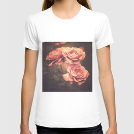 Three Pink Roses (Vintage Flower Photography) T-shirt