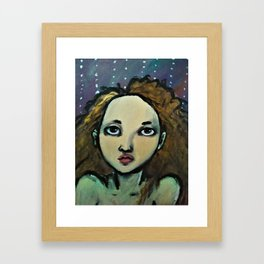 Portrait of Girl (Koh) Framed Art Print