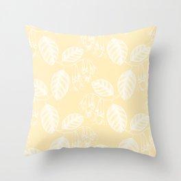 Spring Fresh Lemon Honey Yellow Throw Pillow