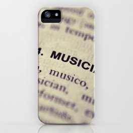 464. Musician iPhone Case