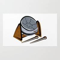 drum Area & Throw Rugs featuring Steel Kettle Drum by shopaholic chick