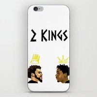 kendrick lamar iPhone & iPod Skins featuring 2 Kings. Kendrick Cole by MikeHanz